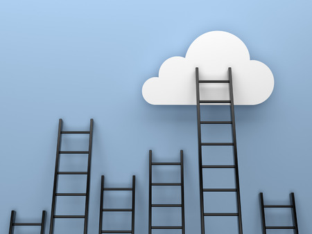 Ladders to cloud competition concept image