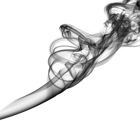 cigarette smoke: Photo of abstract smoke black&white