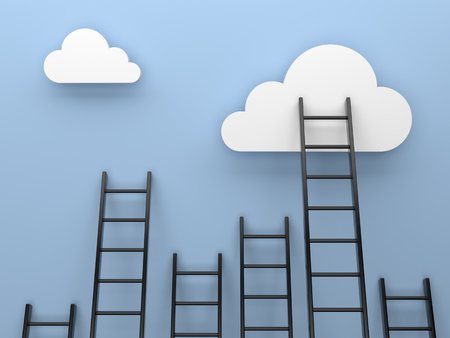 clambering: Ladders to cloud competition concept image