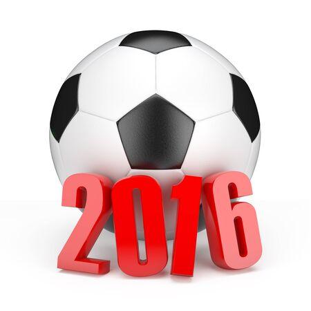Football euro championship 2016 in France.3d illustration. Stock Photo