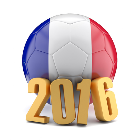 Football euro championship 2016 in France.3d illustration. Stock Photo