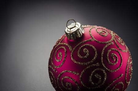 Photo of christmas toy ball closeup.