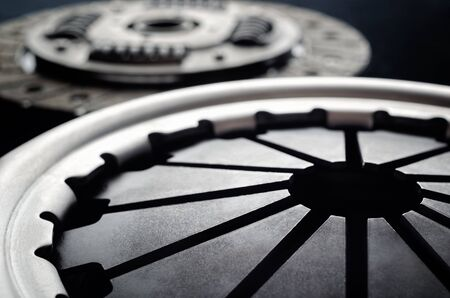 Closeup vehicle clutch plate disc