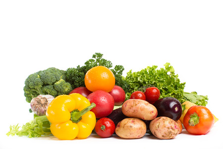 Russische groenten geïsoleerd op een witte
