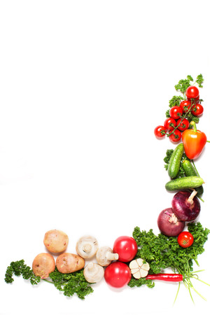 vegetables isolated on a white  Banque d'images