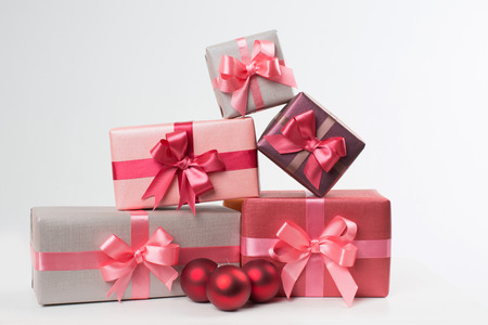 stylishly: Stylishly packaged boxes with gifts
