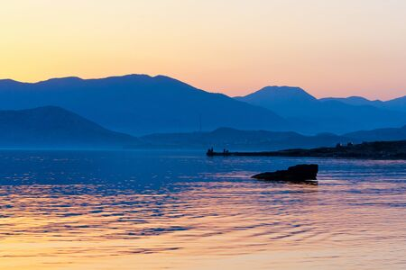 Nice sea landscape in evening time photo