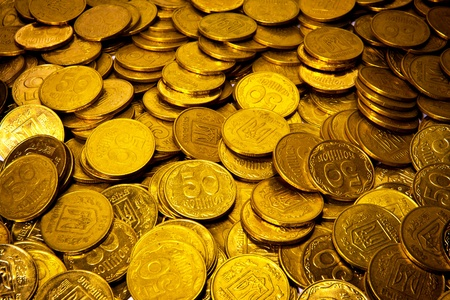 abstract background with Ukrauinian coins photo