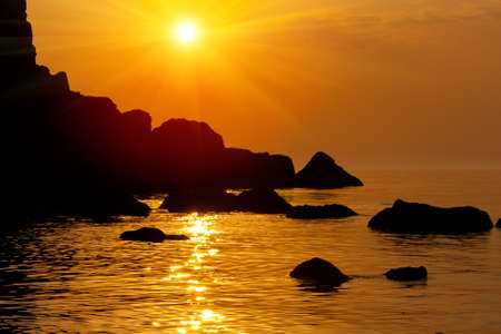 Hot sunset on sea Stock Photo - 13750954