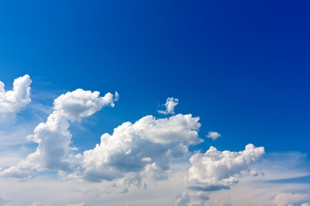 nice clouds in blue sky Stock Photo