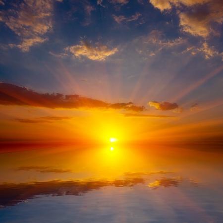 Nice sunset over water surafce Stock Photo - 13750963