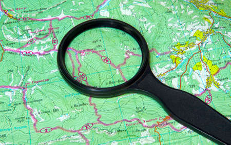 map and zoom lens Stock Photo - 13764422