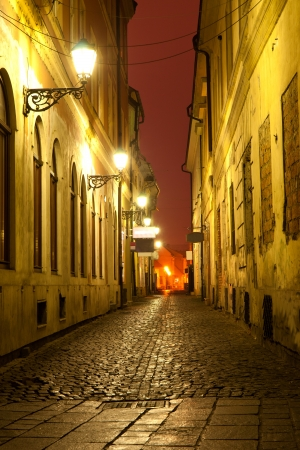 Night scene in old town photo