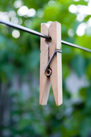 clothesline on cord Stock Photo