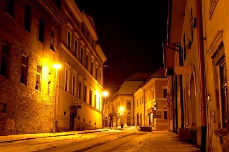 Night scene in old city