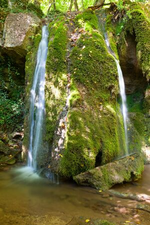 waterfall in crimean mountains photo