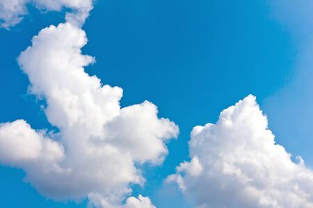 bue: Nice clouds in bue sky Stock Photo