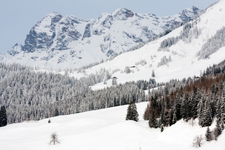 winter scene in Alps Mountains, Austria photo