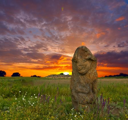 grave stone: Stone idol in Stone Grave Museum, Ukraine