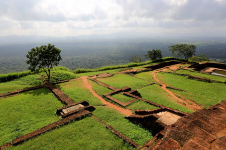 ruins on on top of Sigiriya Rock, Sri Lanka photo