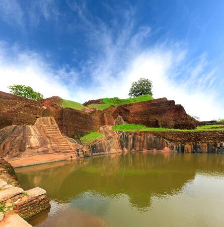 sigiriya: kings swimmig pool in Sigiriya. Sri Lanka