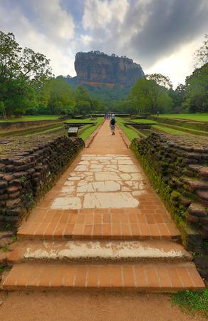 Path to Sigiriya rock Castle, Sri Lanka Stock Photo