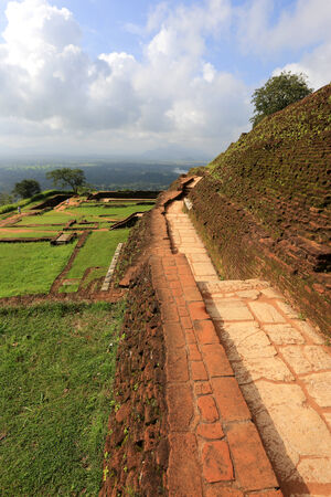 old walls in Sigiriya castle, Sri lanka  photo