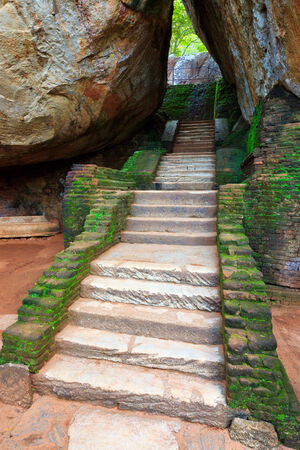 old stairs among stones  photo