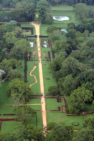 sigiriya: Garden under Sigiriya Rock, Sri Lanka