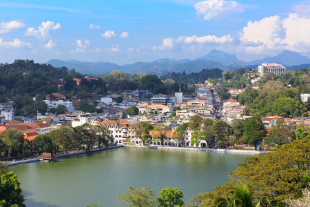 View on Kandy City, SriLanka Stock Photo