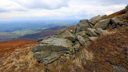 centric: old stones in Carpathian mountains