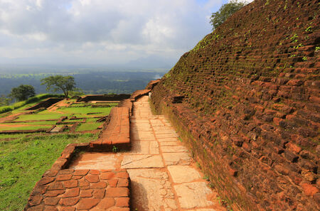 old wall of Sigiriya castle, Sri lanka   photo