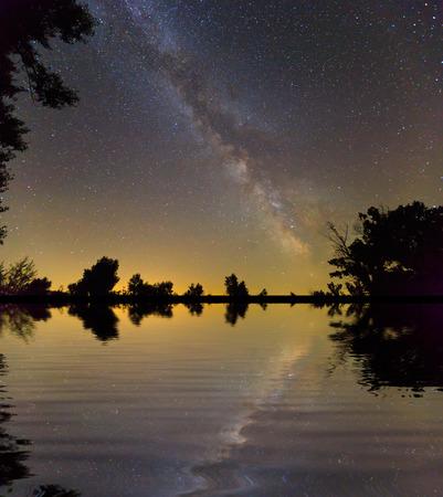 milkyway: night sky scene with Milkyway Galaxy