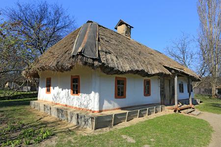 traditional ukrainian house in Pirogovo village, open air museum in Kiev