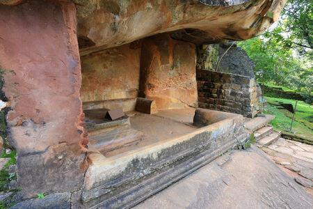 ancient seat in Sigiriya castle, Sri Lanka photo
