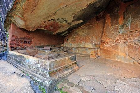 Monastery place in Sigiriya Castle, Sri Lanka photo