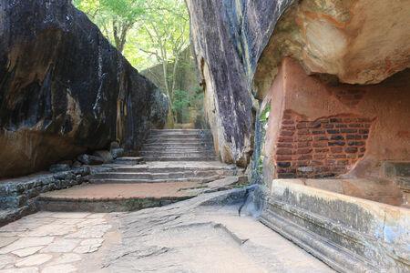 old wall of Sigiriya castle, Sri lanka   photo