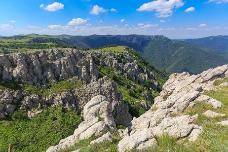crimean: Summer landscape with Crimean rocks