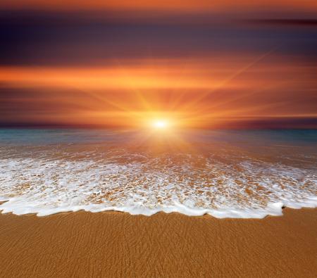 Nice sunset over sea beach