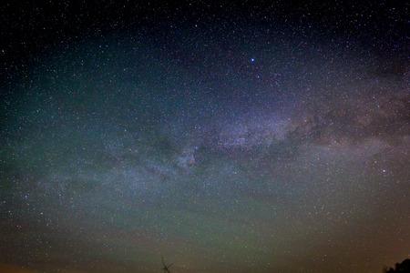 deep space: View to Milky Way Galaxy on nigh sky