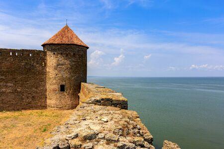 Tower of Belgorod-Dnestrovsky Castle, Ukraine Stock Photo