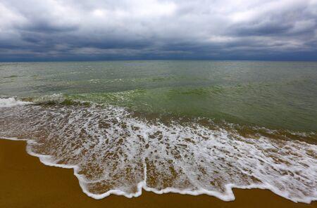 strom: Sea coast in strom weather Stock Photo