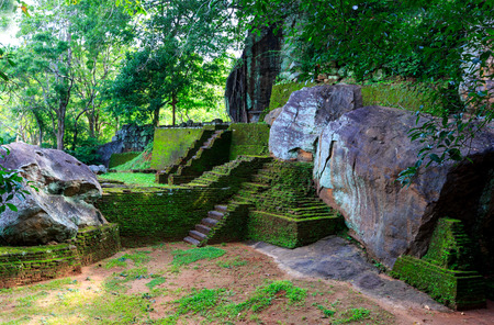 sri: Old Ruins of Sigiriya Castle, Sri Lanka