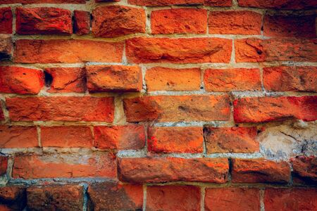 paredes de ladrillos: antigua f�brica de ladrillo rojo de fondo abstracto