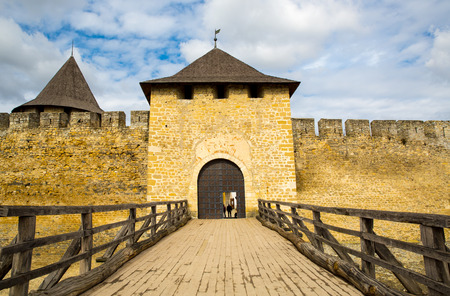 fastness: Main entrance to old Khotyn castle