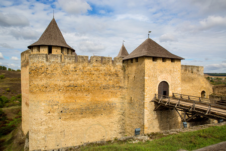 fastness: View on entrance to old Khotyn castle Editorial