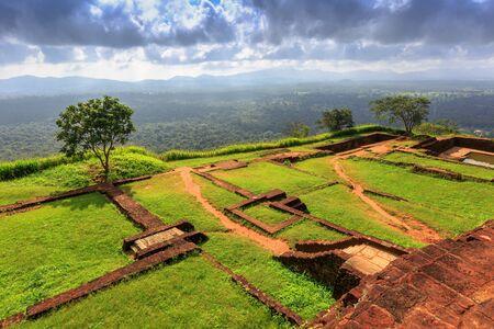 sigiriya: Famous Sigiriya Rock Kings palace, Sri Lanka Stock Photo