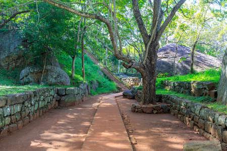 sigiriya: Alley among old ruins of Sigiriya Castle in Sri Lnaka