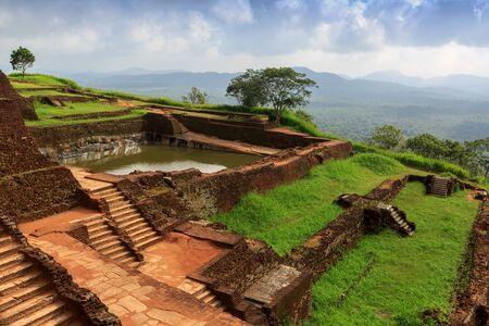 sigiriya: Ruins on top of Sigiriya Lions rock  in Sri Lanka Stock Photo