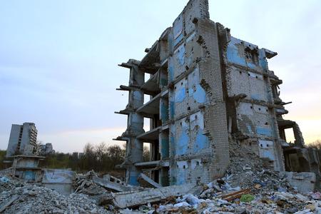 Ruïnes van de oude verloren huis Stockfoto